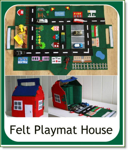 Felt Playmat House