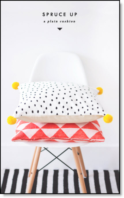 Spruce up pillow