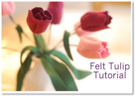 felt tulips