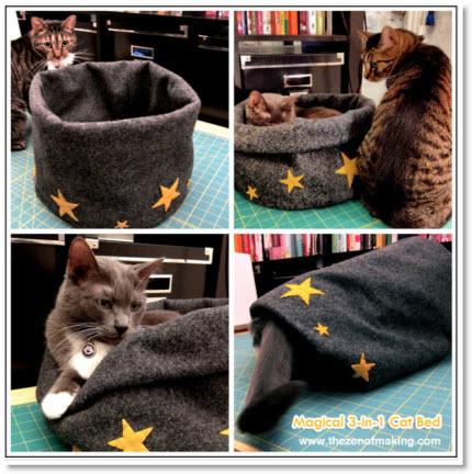 Magical 3-in-1 Felt Cat Bed
