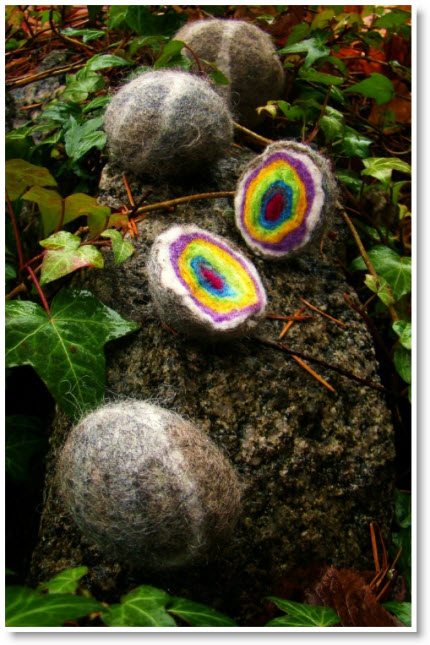 Tiny Treasures Rainbow Felt Rocks