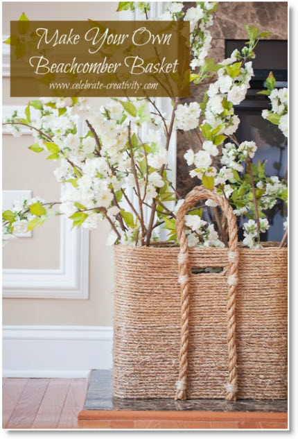 HANDCRAFTED BEACHCOMBER BASKET