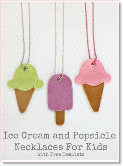ice cream necklaces