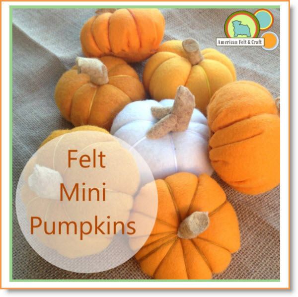 DIY Mini Felt Pumpkins