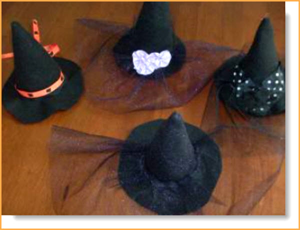 Felt witches hats