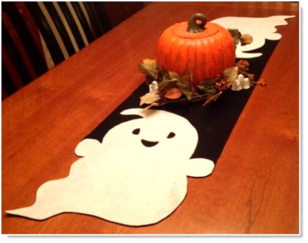 Felt Ghost Table Runner Tutorial