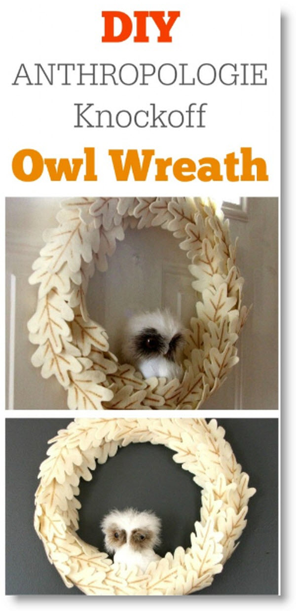 DIY Owl Wreath