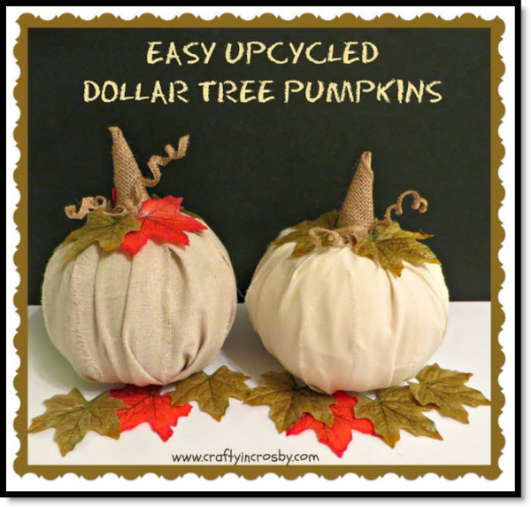 Easy Up cycled Dollar Tree Pumpkins