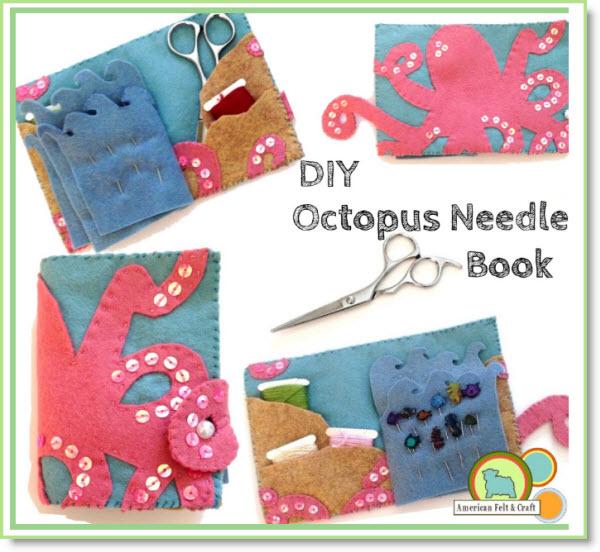 Felt Octopus Needlebook