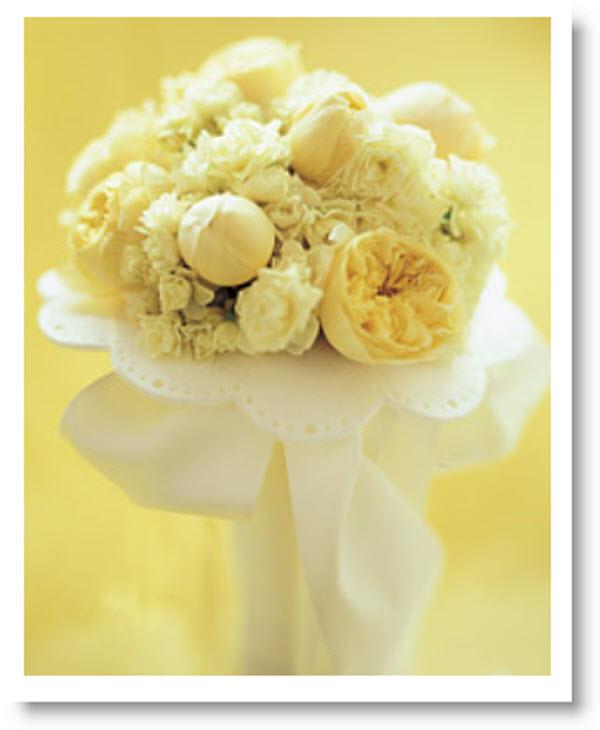 Felt Wedding Bouquet Cuff