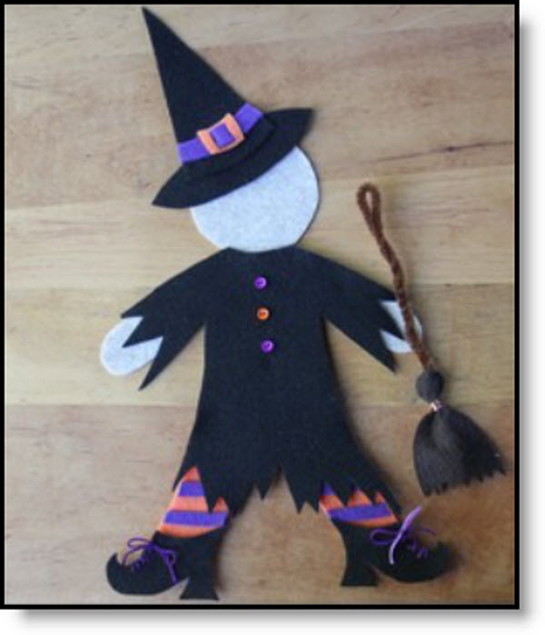 Felt Witch's Laundry Day body