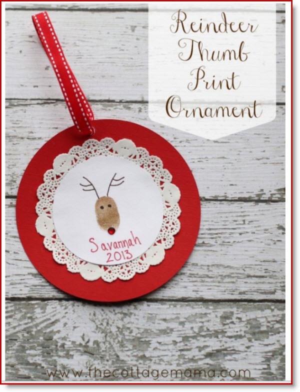 Reindeer Thumb Print