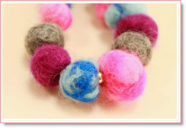 wet felt beads
