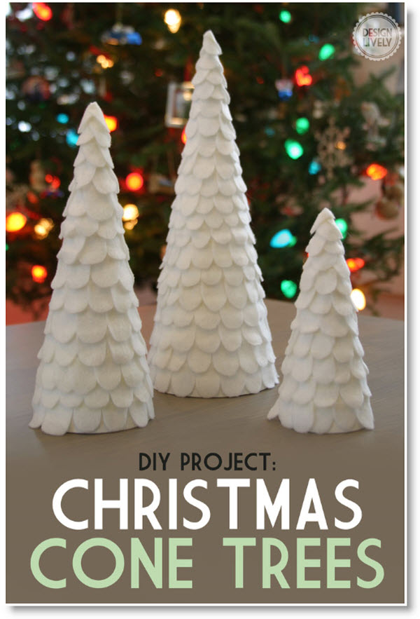 Diy Cone Christmas Trees.Easy Diy Cone Christmas Tree Felting