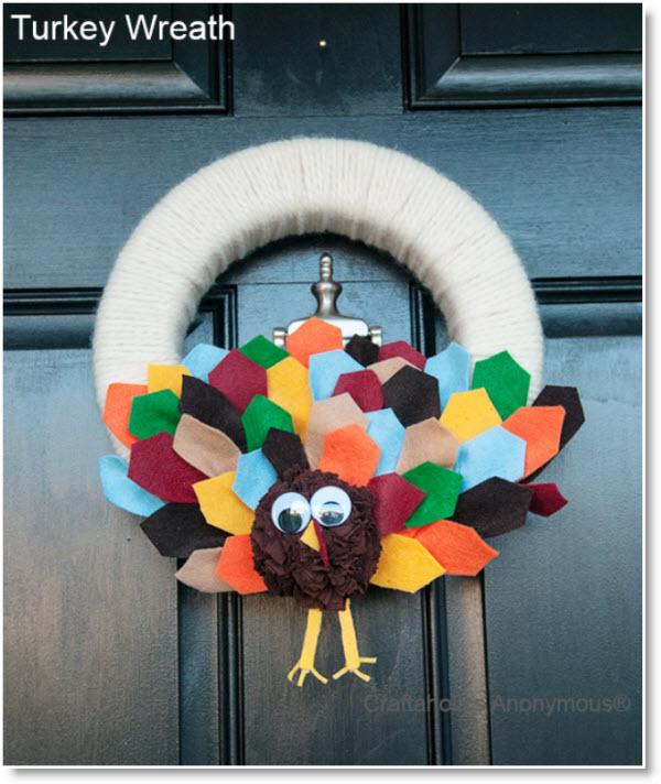 Thanksgiving Craft A Turkey Wreath