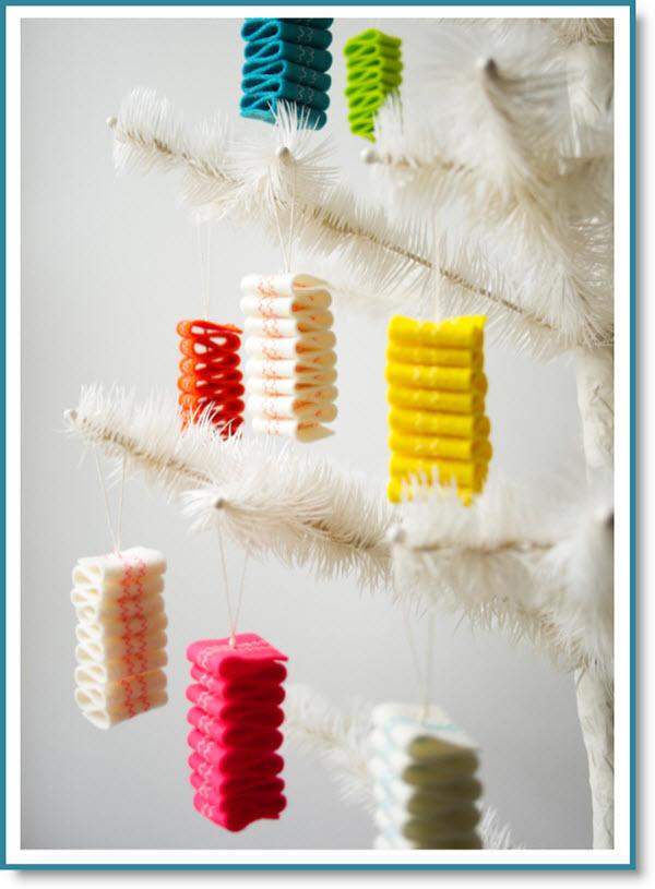 Ribbon Candy Felt Ornaments Tutorial