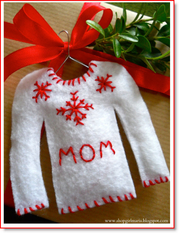Christmas Sweater Gift Tags NO SEW
