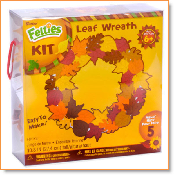 leaf wreath kit