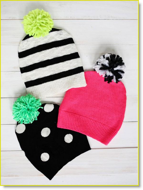 Have a Sweater? Make a Pom-Pom Hat!