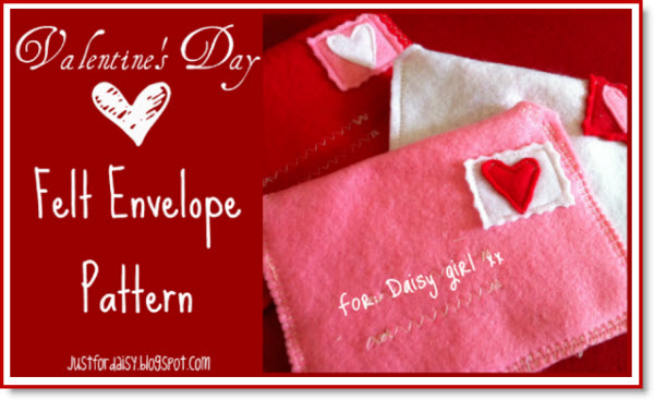 Making Felt Mail with free printable pattern