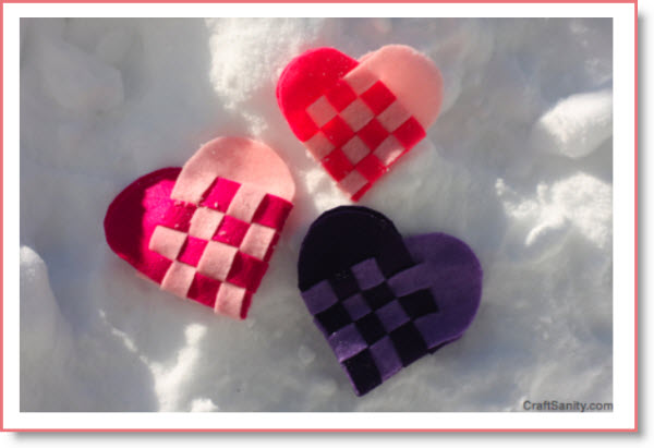 Valentine's Day Woven Felt Heart