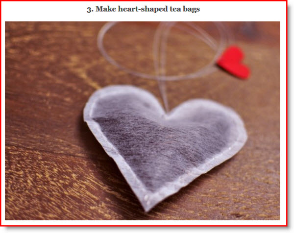 heart tea bag