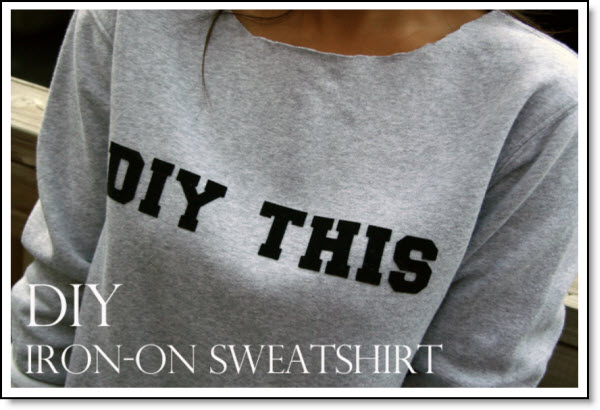 DIY: Iron-On Letter Sweatshirt – Felting
