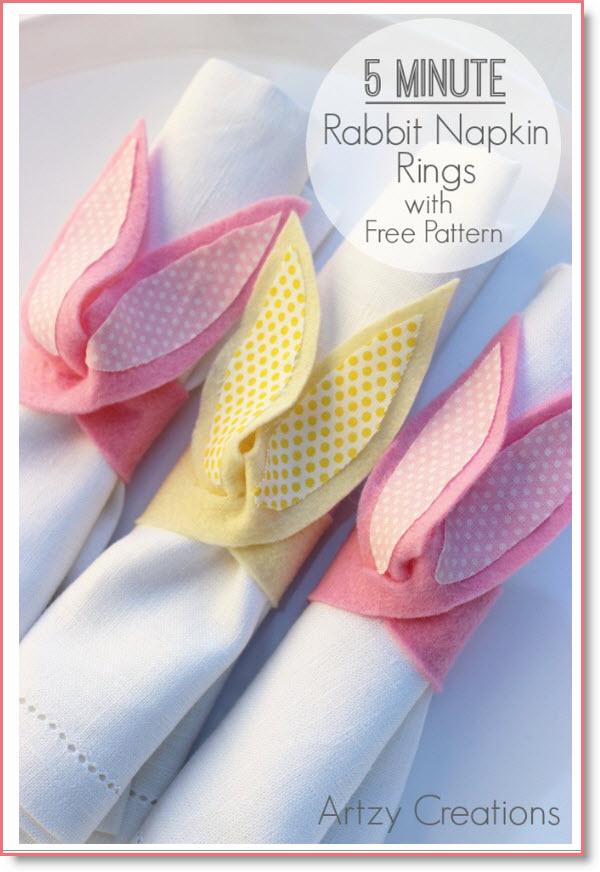 rabbit napkin ring