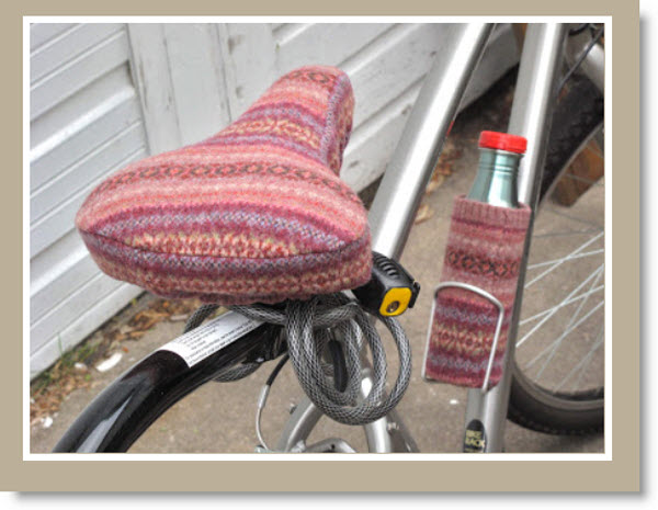 recycled wool bike seat cover
