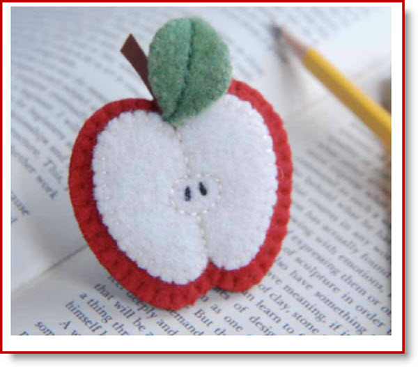 apple brooch