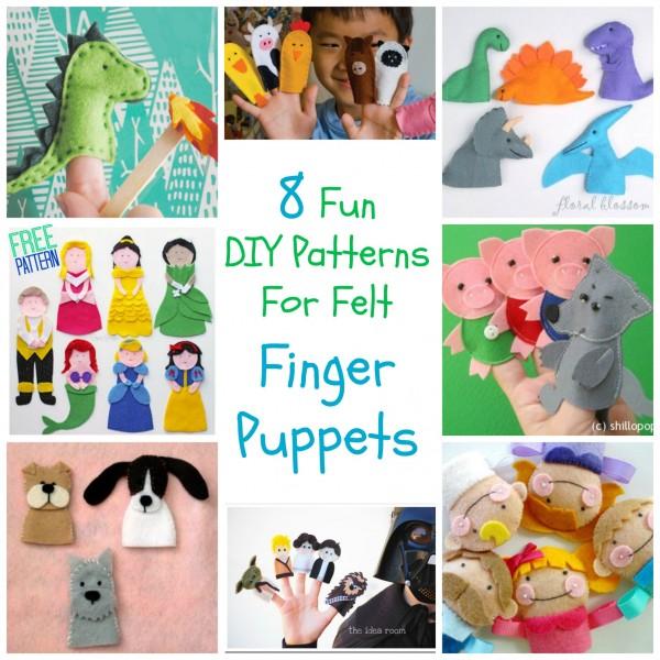 8 Fun Diy Patterns For Felt Finger Puppets Felting