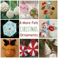 8 More Felt Christmas Ornaments