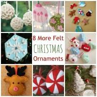 8 More Felt Christmas Ornaments