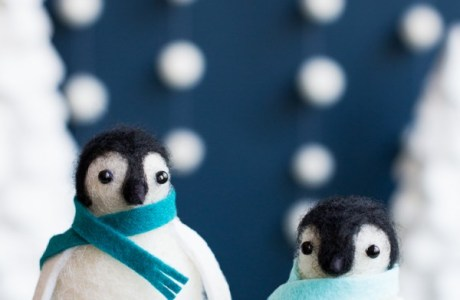 Handmade Felted Penguins