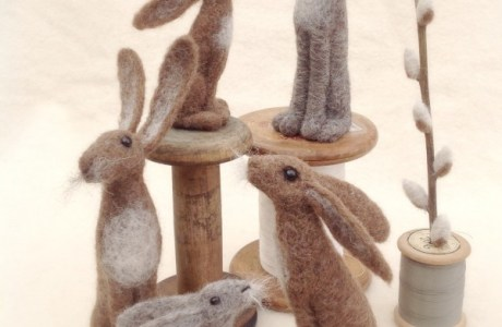 Felting Inspiration – Easter Hares