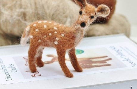 Needle Felting Fawn Kit