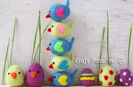Needle Felted Mini Birds Tutorial
