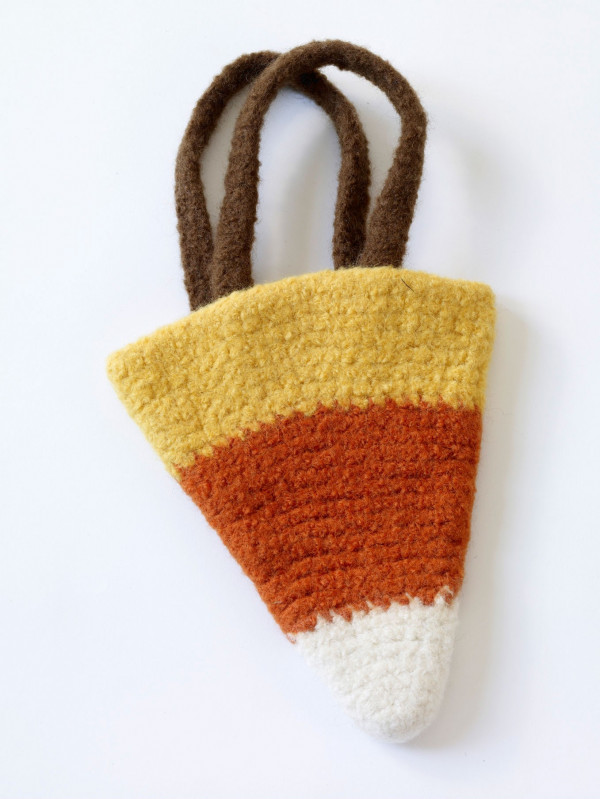 Felted Candy Corn Bag Pattern