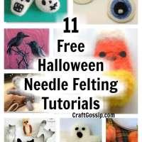 11 Free Halloween Needle Felted Tutorials