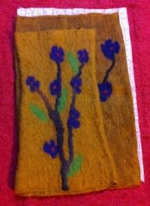 fingerless mitt flowered 1