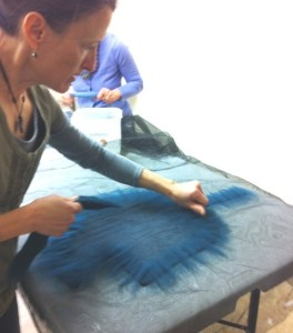laying out fiber 2