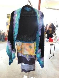 shawl on rack
