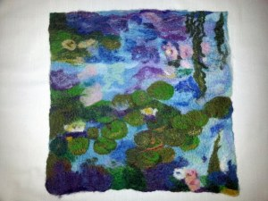 Monet 2 after felting