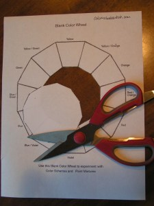 Cutting out the Center of Color Wheel