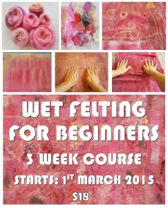 wet felting FOR BEGINNERS flyer 1ST March