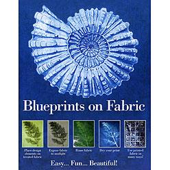 blueprints on fabric