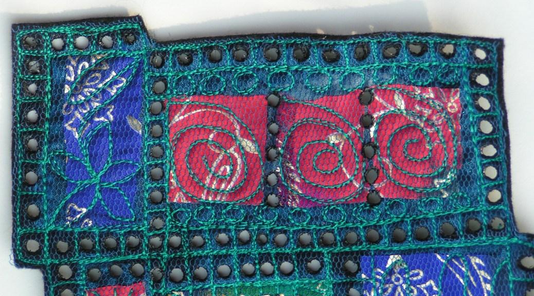 Layered, burned synthetic fabric, Ruth Lane