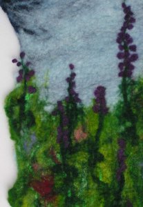 Close Up Felted Wall Hanging