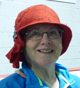 red hat with buttons