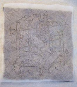Water Soluble with Design on Felt